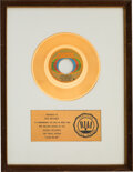 """Music Memorabilia:Awards, Bill Withers """"Lean On Me"""" RIAA Gold Sales Award...."""