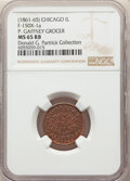 (1861-65) Chicago, Illinois Civil War Merchant Token, P. Gaffney Grocer, Fuld IL-150X-1a, R.4, MS65 Red and Brown NGC. E...
