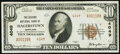National Bank Notes:Maryland, Hagerstown, MD - $10 1929 Ty. 2 The Second National Bank Ch. # 4049 Very Fine.. ...