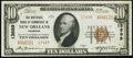 National Bank Notes:Louisiana, New Orleans, LA - $10 1929 Ty. 2 The National Bank of Commerce Ch. # 13689 Extremely Fine-About Uncirculated.. ...