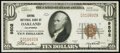 National Bank Notes:California, Oakland, CA - $10 1929 Ty. 1 Central National Bank Ch. # 9502 Very Fine.. ...