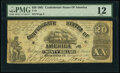 Confederate Notes:1861 Issues, T18 $20 1861 PMG Fine 12.. ...