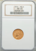Indian Quarter Eagles: , 1914 $2 1/2 MS63 NGC. NGC Census: (857/449). PCGS Population: (696/521). CDN: $1,900 Whsle. Bid for NGC/PCGS MS63. Mintage ...