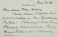 Autographs:U.S. Presidents, Edith Roosevelt Autograph Letter Signed. Two page...
