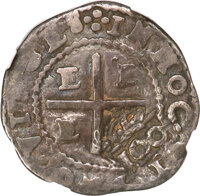 Brazil: Alfonso VI Counterstamped 100 Reis ND (1663) VF25 NGC