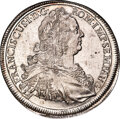 German States: Augsburg. Free City Taler 1763-FAH MS64 Prooflike NGC