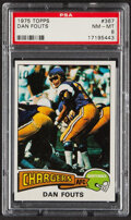 Football Cards:Singles (1970-Now), 1975 Topps Dan Fouts #367 PSA NM-MT 8....