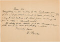 Autographs:Non-American, Wolfgang Pauli Autograph Letter Signed with Signed Envelope and Nobel Prize Lecture.... (Total: 2 Items)