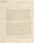 Autographs, Erwin Schrodinger Typed Letter Signed....
