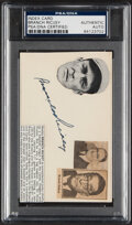 Autographs:Index Cards, Signed Branch Rickey Index Card PSA/DNA Authentic. ...
