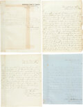 Military & Patriotic:Civil War, [Civil War-Hospitals]. Autographed Letters Signed Addressed to Colonel Henry Brevard Davidson, CSA....