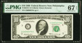Small Size:Federal Reserve Notes, Low Serial Number 79 Fr. 2018-C $10 1969 Federal Reserve Note. PMG Superb Gem Unc 67 EPQ.. ...