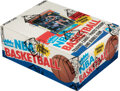 Basketball Cards:Unopened Packs/Display Boxes, 1986 Fleer Basketball Wax Box With 36 Unopened Packs - Two Packs with Michael Jordan #57 on Top! ...