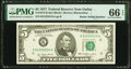 Small Size:Federal Reserve Notes, Radar Serial Number 51555515 Fr. 1974-K $5 1977 Federal Reserve Note. PMG Gem Uncirculated 66 EPQ.. ...