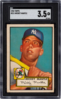 1952 Topps Mickey Mantle #311 SGC VG+ 3.5