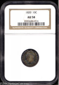 Bust Dimes: , 1820 10C AU58 NGC. JR-11, R.3. Small C in denomination, ...