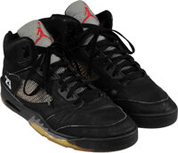 1990 Michael Jordan Eastern Conference Finals Game Three Worn Sneakers & Signed Book Set Gifted to Whitney Houston...
