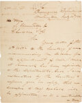 Autographs:Military Figures, George Bomford Letter Signed. ...