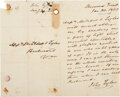 Autographs:U.S. Presidents, John Tyler Autograph Letter Signed. One page of a...