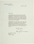 Autographs:U.S. Presidents, Harry Truman Typed Letter Signed. One page of a b...