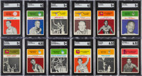 1961 Fleer Basketball Complete Set (66) With Wilt Chamberlain SGC EX/NM+ 6.5