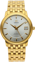 Timepieces:Wristwatch, Omega, 18k Gold Automatic Chronometer, Ref. 168.1050, circ...