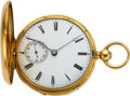 Timepieces:Pocket (pre 1900) , Swiss, 18k Gold Minute Repeater For Villiez & Millenet Madrid, circa 1860's. ...