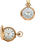 Timepieces:Pocket (post 1900), Vacheron & Constantin, Hy. Moser, Two Ladies Gold Watches, circa 1905. ... (Total: 2 Items)