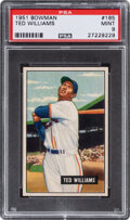 Baseball Cards:Singles (1950-1959), 1951 Bowman Ted Williams #165 PSA Mint 9 - None Higher....