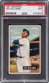1951 Bowman Ted Williams #165 PSA Mint 9 - None Higher