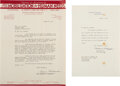 Autographs:Statesmen, Political Autograph Collection Featuring Two Eleanor Roose...