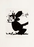 Works on Paper, Sherrie Levine (b. 1947). Krazy Kat No. 10, 1993. Ink on paper. 12 x 9-1/2 inches (30.5 x 24.1 cm) (image). 20 x 15 inch...