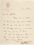 Autographs:Statesmen, Sir Mark Sykes Autograph Letter Signed. One page, ...