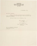 Autographs:Military Figures, George S. Patton Typed Letter Signed. ...
