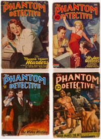 The Phantom Detective Group of 8 (Standard Magazines, 1941-51) Condition: Average GD/VG.... (Total: 8 Comic Books)