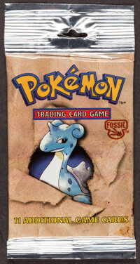 Pokémon Unlimited Lapras Fossil Set Sealed Booster Pack (Wizards of the Coast, 1999)