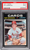 Baseball Cards:Singles (1970-Now), 1971 Topps Ted Simmons #117 PSA Mint 9 - Only One Higher!...