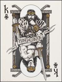 King Conan by Patrick Connan (c.2020). Rolled, Very Fine/Near Mint. Signed & Hand Numbered Limited Edition Screen Pr...
