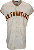 Baseball Collectibles:Uniforms, 1958 Willie Mays Game Worn San Francisco Giants Jersey, MEARS A7.5....