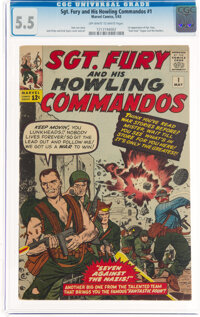 Sgt. Fury and His Howling Commandos #1 (Marvel, 1963) CGC FN- 5.5 Off-white to white pages