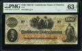Confederate Notes:1862 Issues, T41 $100 1862 PF-11 Cr. 319A PMG Choice Uncirculated 63 EP...