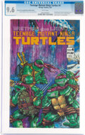 Modern Age (1980-Present):Alternative/Underground, Teenage Mutant Ninja Turtles #4 Second Printing Printing/Manufacturing Error (Mirage Studios, 1987) CGC NM+ 9.6 White pages....