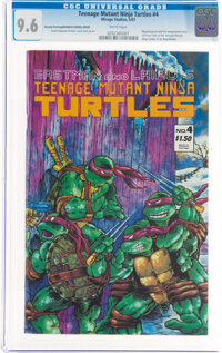 Teenage Mutant Ninja Turtles #4 Second Printing Printing/Manufacturing Error (Mirage Studios, 1987) CGC NM+ 9.6 White pa...