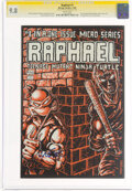 Modern Age (1980-Present):Alternative/Underground, Raphael Teenage Mutant Ninja Turtle #1 Signature Series: Kevin Eastman (Mirage Studios, 1985) CGC NM/MT 9.8 White pages....