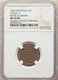 1864 White & Swann, Unknown Business, Civil War Store Card, Huntsville, Alabama, Fuld-425A-1a, R.8, MS64 Brown NGC...