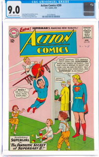 Action Comics #299 (DC, 1963) CGC VF/NM 9.0 Off-white to white pages