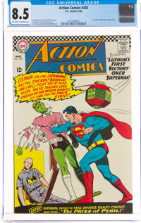 Action Comics #335 (DC, 1966) CGC VF+ 8.5 Off-white to white pages