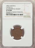 1864 Ellsworth & Halsey, General Merchandise, Civil War Store Card, Lacon, Illinois, Fuld-472A-1a, R.6, VF30 NGC. Ex...