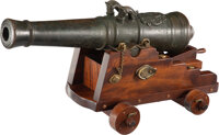 An English Two Inch Bore Bronze Naval Cannon 30 x 14-3/4 x 14-1/2 inches (76.2 x 37.5 x 36.8 cm)  Propert