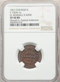 1863 O. Kendall's Sons, Bread Sellers, Civil War Store Card, Chicago, Illinois, Fuld-150AI-1a, R.8, XF40 NGC. Ex: Donald...